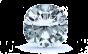 Emilia Petite Diamond Engagement Ring in 14K White Gold; .22 ctw with 0.71 Carat Cushion Diamond  thumb image 3