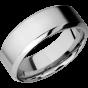 Cobalt Chrome Men's Wedding Band with Customized Laser Carved Fingerprint thumb image 1