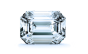 Halo Diamond Pendant in 14K White Gold; Shown with  0.61 ctw   with 1.39 Carat Emerald Diamond  thumb image 2