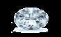 Kacy Platinum Diamond Engagement Ring; .30 ct with 3.01 Carat Oval Diamond  thumb image 3
