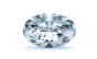 Halo Diamond Pendant in 14K White Gold; Shown with  0.61 ctw   with 0.53 Carat Oval Diamond  thumb image 2