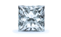 Halo Diamond Pendant in 14K White Gold; Shown with  0.61 ctw   with 1.26 Carat Princess Diamond  thumb image 2