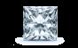 Scarlett Three Stone Diamond Engagement Ring in 14k White Gold; Diamond .50ctw with 1.54 Carat Princess Diamond  thumb image 3