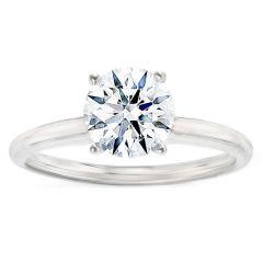 Carmen Solitaire Ring in 14K White Gold