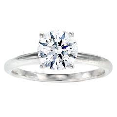 Carmen 14K White Gold Solitaire Ring