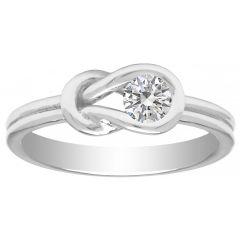 14K White gold .25ct Diamond Promise Ring