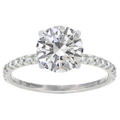 Keira 14K White Gold Diamond Engagement Ring; 0.25 Ctw