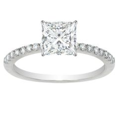 Olivia Diamond Engagement Ring In 14K WG; 0.56 Ctw