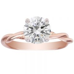 Intertwined Lovers Mounting 14K Rose Gold