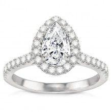 Estephania Diamond Engagement Ring in 14k White Gold; 1.59 ctw