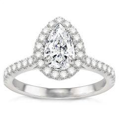 Estephania Diamond Engagement Ring in 14k White Gold; 0.50 ctw