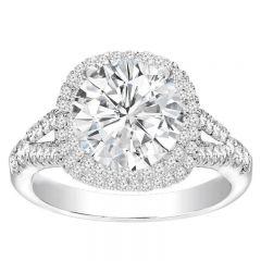 Ruba Diamond Engagement Ring in 14K White Gold with center diamond
