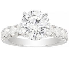 Bella Diamond Engagement Ring Setting in 14K White Gold; 1.05 ctw