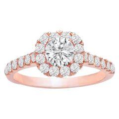 Rosemary Round Halo Engagement Ring; 0.61 ctw