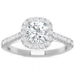 Kiara Diamond Engagement Ring in 14K White Gold; 0.92 ctw