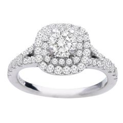 Diamond Ring in 14K White Gold- Ellie; 1.10 ctw