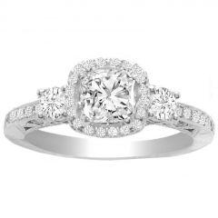 Reagan Diamond Engagement Ring in 18K White Gold; 1.22 ct