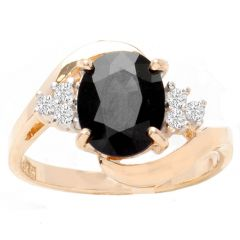 Ophelia Sapphire Ring in 14K YG; 1.90 ctw