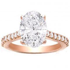 Kendalia Hidden Halo Engagement Ring in 14K Rose Gold; 0.30 ctw