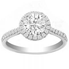 Karla Engagement Ring in 14K White Gold; 1.27ctw