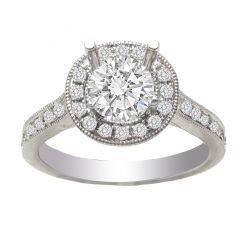 Paulette 14KWG Diamond Engagement Ring; .40 ctw