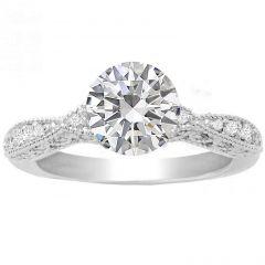 Elisa Diamond Engagement Ring in 14K White Gold; 0.45 ctw