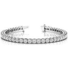 14K White Gold Diamond Tennis Bracelet; 3 ctw
