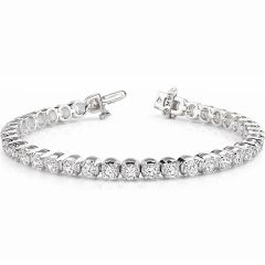 14K White Gold Diamond Bracelet; 7.00 ctw