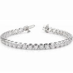 14K White Gold Diamond Bracelet; 6.65 Ctw