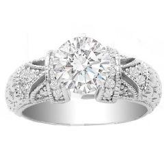 Annabelle Diamond Ring Setting in 14K White Gold; 0.25 ctw