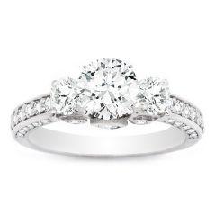 Rayna Three-Stone Engagement Ring