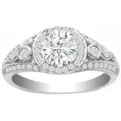 Mabel Diamond Engagement Ring in 14K White Gold; 0.35 ctw