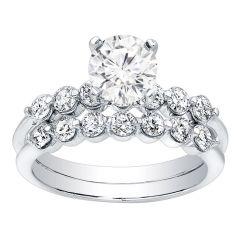 Gracely Diamond Engagement Ring Set; 0.80 ctw