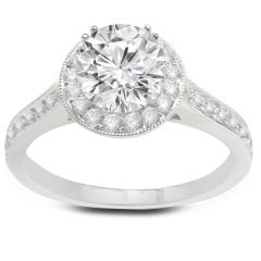 Emily White Gold and Diamond Engagement Ring Center Diamond Sold Separately