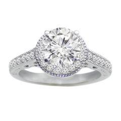 Zelda Diamond Engagement Ring in 14K White Gold; 0.50 ctw