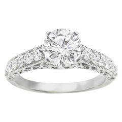 Diamond Engagement Ring in 14K White Gold; 0.50 ctw