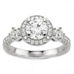 Ariel 14K White Gold Three-Stone Diamond Engagement Ring