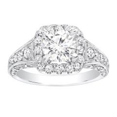 Agathe Vintage Engagement Ring in 14K White Gold; 0.70 ctw