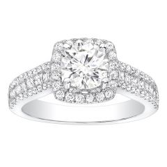 Monique Channel-Set Diamond Engagement Ring in 14k White Gold; 0.70 ct