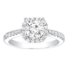 Jessica Halo Diamond Engagement Ring in 14K White Gold; Diamond 0.60 ctw