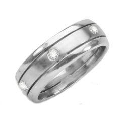 Mens Diamond Wedding Band; Diamonds: .50 ctw