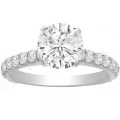 Kara Prong Set Engagement Ring in 14K White Gold; 0.60 ctw