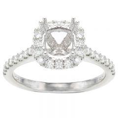 Aurora Cushion Halo Engagement Ring