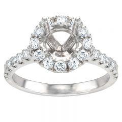 Eva Round Halo Engagement Ring
