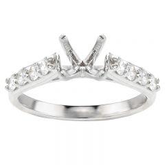 Nora 14K White Gold Diamond Engagement Ring