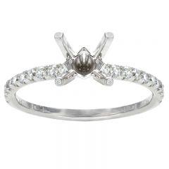 Keira 14K White Gold Diamond Engagement Ring