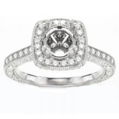 Ines Halo Engagement Ring