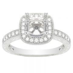 Madeleine Halo Engagement Ring