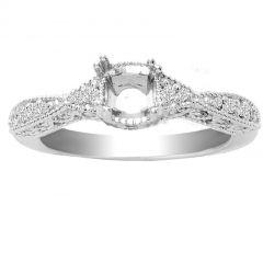 Elisa 14K Engagement Ring; 0.45 ctw
