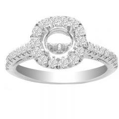 Kora Engagement Ring Setting in 14K White Gold; 0.45 ctw